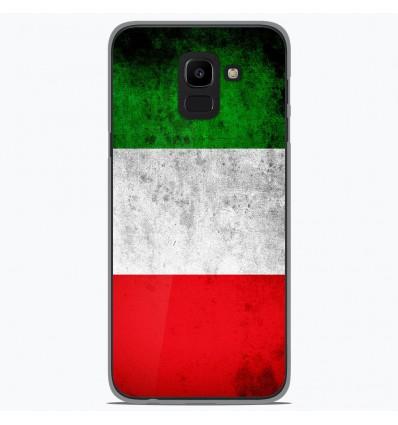 Coque en silicone Samsung Galaxy J6 2018 - Drapeau Italie