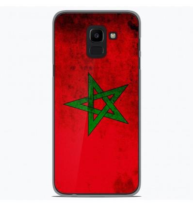 Coque en silicone Samsung Galaxy J6 2018 - Drapeau Maroc