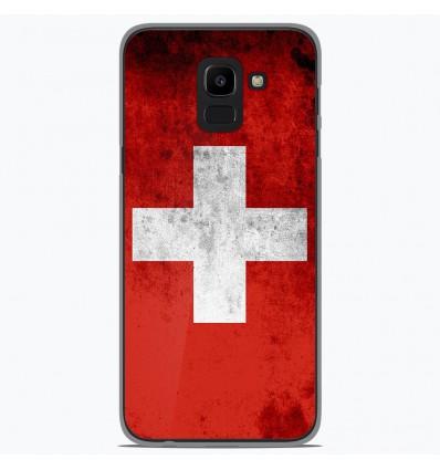 Coque en silicone Samsung Galaxy J6 2018 - Drapeau Suisse