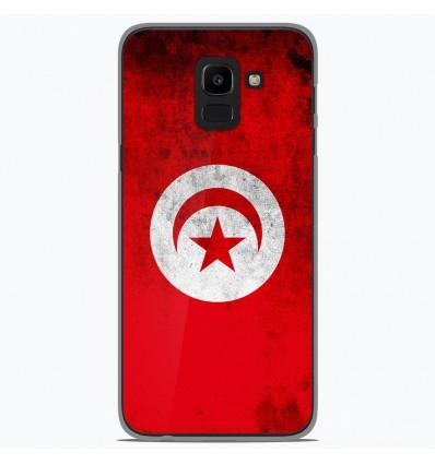 Coque en silicone Samsung Galaxy J6 2018 - Drapeau Tunisie