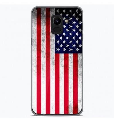 Coque en silicone Samsung Galaxy J6 2018 - Drapeau USA