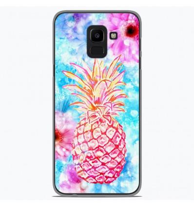 Coque en silicone Samsung Galaxy J6 2018 - Ananas