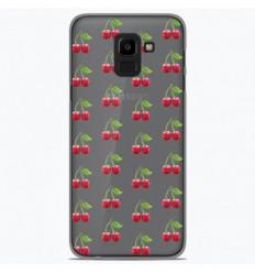Coque en silicone Samsung Galaxy J6 2018 - Cerises Gris