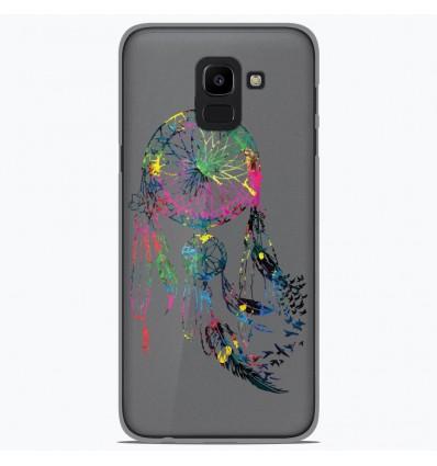 Coque en silicone Samsung Galaxy J6 2018 - Dreamcatcher Gris