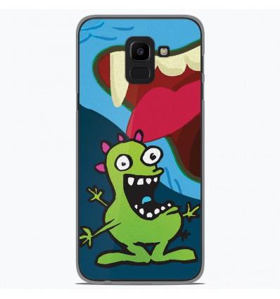 Coque en silicone Samsung Galaxy J6 2018 - Happy Monster