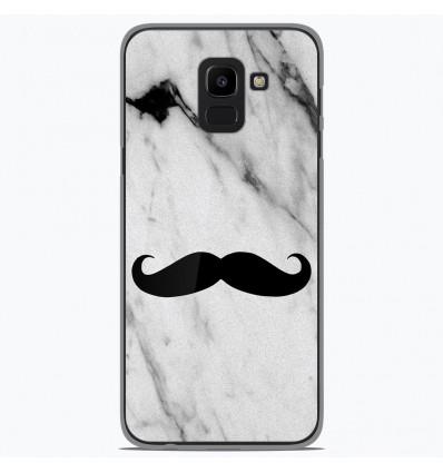 Coque en silicone Samsung Galaxy J6 2018 - Hipster Moustache