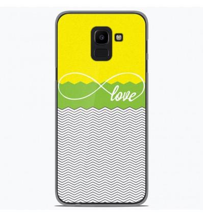 Coque en silicone Samsung Galaxy J6 2018 - Love Jaune
