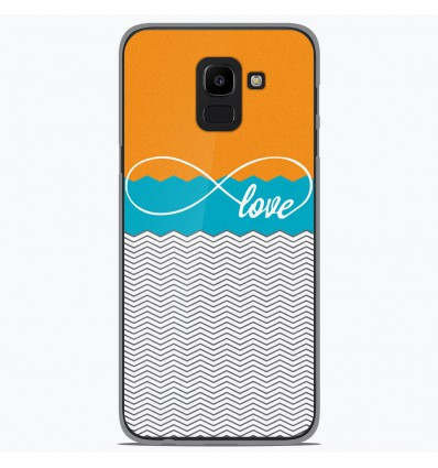 Coque en silicone Samsung Galaxy J6 2018 - Love Orange