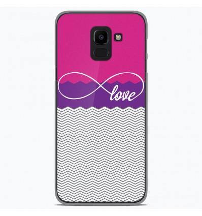 Coque en silicone Samsung Galaxy J6 2018 - Love Rose