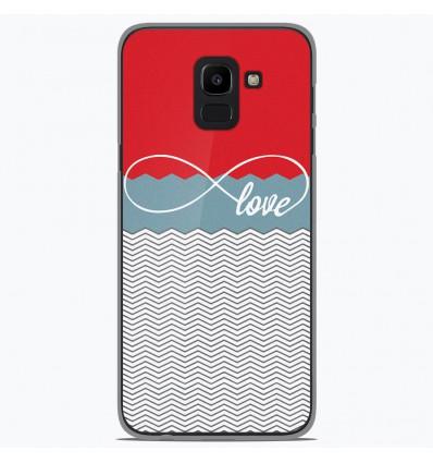 Coque en silicone Samsung Galaxy J6 2018 - Love Rouge