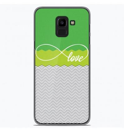 Coque en silicone Samsung Galaxy J6 2018 - Love Vert