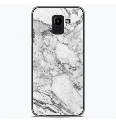 Coque en silicone Samsung Galaxy J6 2018 - Marbre Blanc