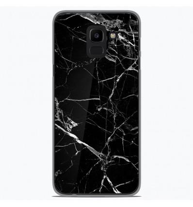 Coque en silicone Samsung Galaxy J6 2018 - Marbre Noir