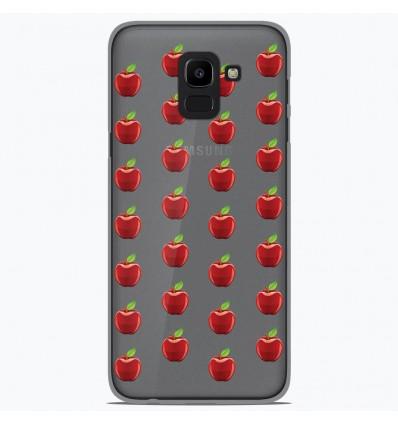 Coque en silicone Samsung Galaxy J6 2018 - Pommes Gris