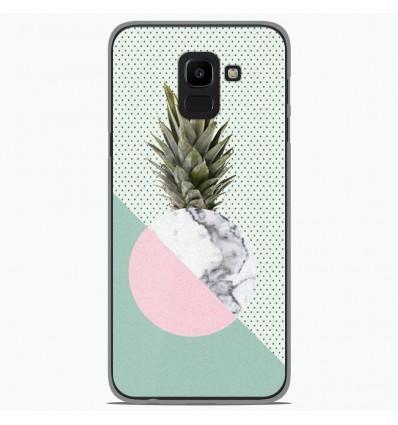 Coque en silicone Samsung Galaxy J6 2018 - Ananas marbre