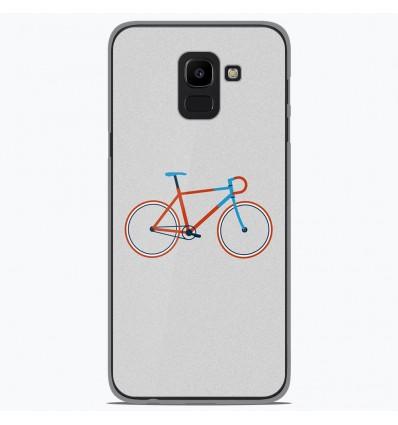 Coque en silicone Samsung Galaxy J6 2018 - Bike color Hipster