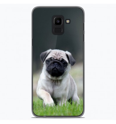 Coque en silicone Samsung Galaxy J6 2018 - Bulldog français