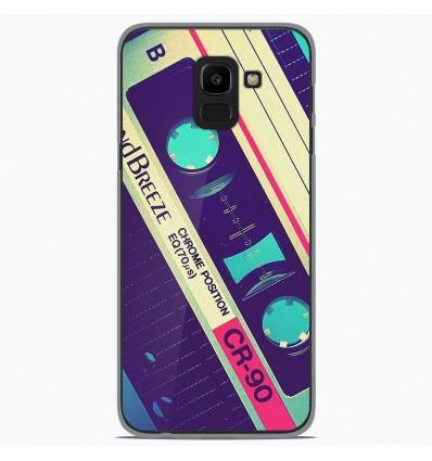 Coque en silicone Samsung Galaxy J6 2018 - Cassette Vintage