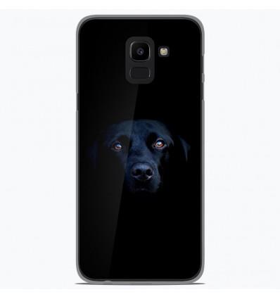 Coque en silicone Samsung Galaxy J6 2018 - Chien noir