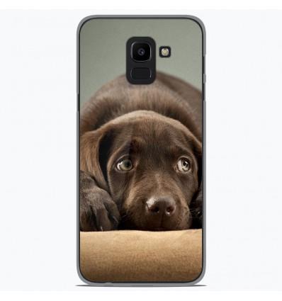 Coque en silicone Samsung Galaxy J6 2018 - Chiot marron