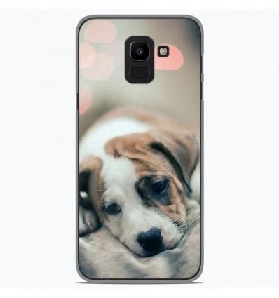 Coque en silicone Samsung Galaxy J6 2018 - Chiot rêveur