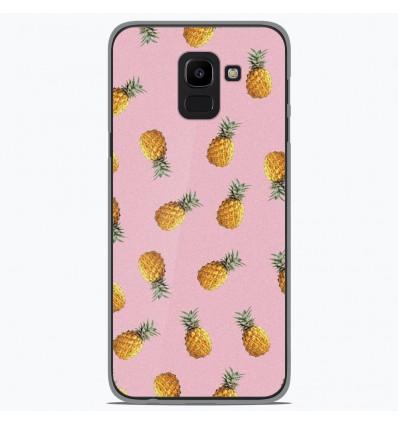 Coque en silicone Samsung Galaxy J6 2018 - Pluie d'ananas