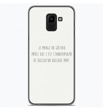 Coque en silicone Samsung Galaxy J6 2018 - Citation 12