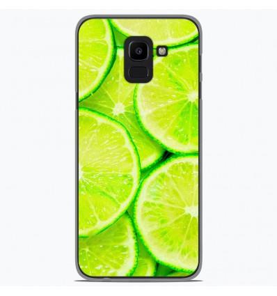 Coque en silicone Samsung Galaxy J6 2018 - Citron