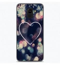Coque en silicone Samsung Galaxy J6 2018 - Coeur Love