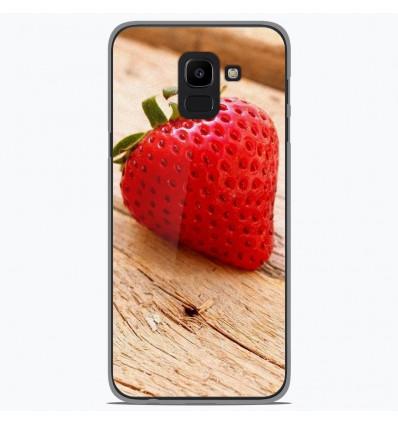 Coque en silicone Samsung Galaxy J6 2018 - Envie d'une fraise