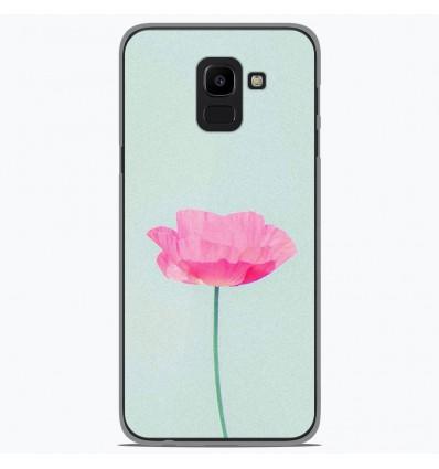 Coque en silicone Samsung Galaxy J6 2018 - Fleur Rose