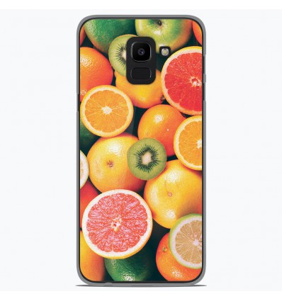 Coque en silicone Samsung Galaxy J6 2018 - Fruits