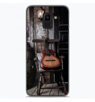 Coque en silicone Samsung Galaxy J6 2018 - Guitare