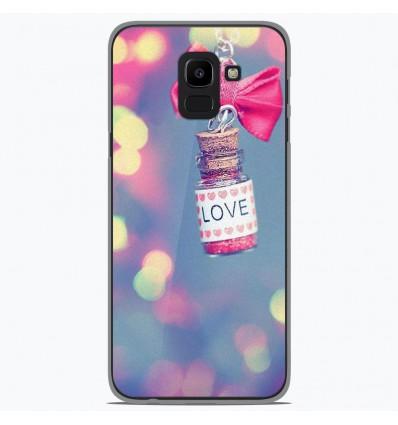 Coque en silicone Samsung Galaxy J6 2018 - Love noeud rose