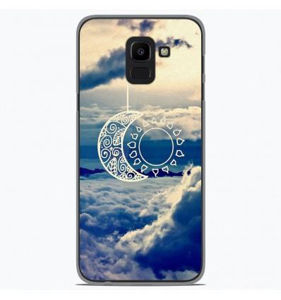 Coque en silicone Samsung Galaxy J6 2018 - Lune soleil
