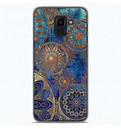 Coque en silicone Samsung Galaxy J6 2018 - Mandalla bleu
