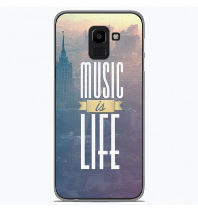 Coque en silicone Samsung Galaxy J6 2018 - Music is life