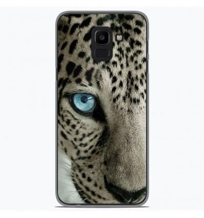 Coque en silicone Samsung Galaxy J6 2018 - Oeil de léopard