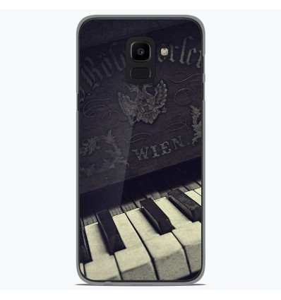 Coque en silicone Samsung Galaxy J6 2018 - Old piano