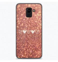 Coque en silicone Samsung Galaxy J6 2018 - Paillettes coeur