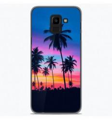 Coque en silicone Samsung Galaxy J6 2018 - Palmiers colorés