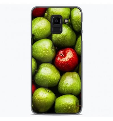 Coque en silicone Samsung Galaxy J6 2018 - Pommes