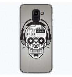 Coque en silicone Samsung Galaxy J6 2018 - Skull Music
