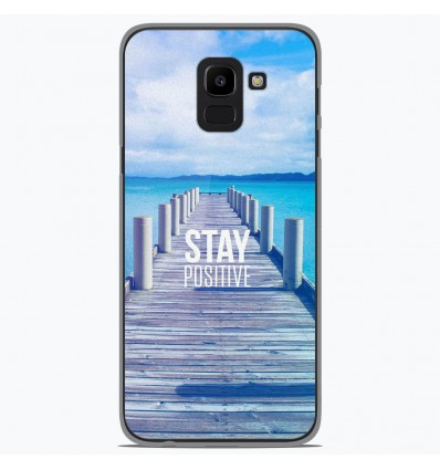 Coque en silicone Samsung Galaxy J6 2018 - Stay positive