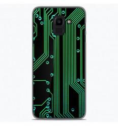 Coque en silicone Samsung Galaxy J6 2018 - Texture circuit geek