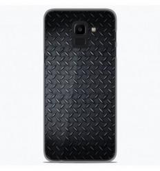Coque en silicone Samsung Galaxy J6 2018 - Texture metal