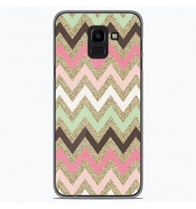 Coque en silicone Samsung Galaxy J6 2018 - Texture rose