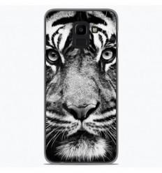 Coque en silicone Samsung Galaxy J6 2018 - Tigre blanc et noir