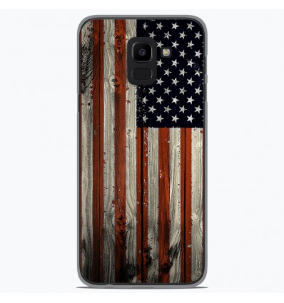 Coque en silicone Samsung Galaxy J6 2018 - USA Hood
