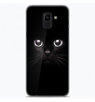 Coque en silicone Samsung Galaxy J6 2018 - Yeux de chat